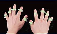 Светящееся кольцо-безразмерное. Пауки, Летучие Мыши, Черепушки, фото 1