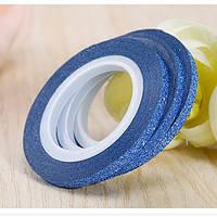 Лента скотч для дизайна ногтей, сахарная Blue 2 мм, фото 1