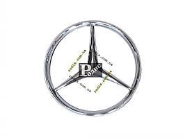 Эмблема Mercedes (d-100мм, s (толщина)- 5мм + 7мм штифт) - Значок с логотипом Мерседес