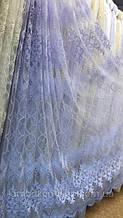 Шикарная фатиновая тюль белого цвета 111269-mr