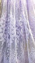 Шикарная фатиновая тюль белого цвета 111269-mr, фото 3