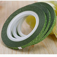 Лента скотч для дизайна ногтей, сахарная Green 2 мм, фото 1