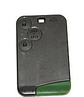 Корпус смарт карты Renault Espace,Laguna,Vel Satis,(Рено Эспейс,Лагуна,Вел Сатис) 3 кнопки (с лезвием)