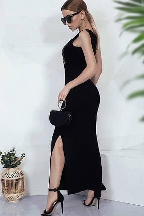 Черное платье в пол, фото 2