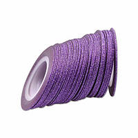 Лента скотч для дизайна ногтей, сахарная Purple 1 мм, фото 1