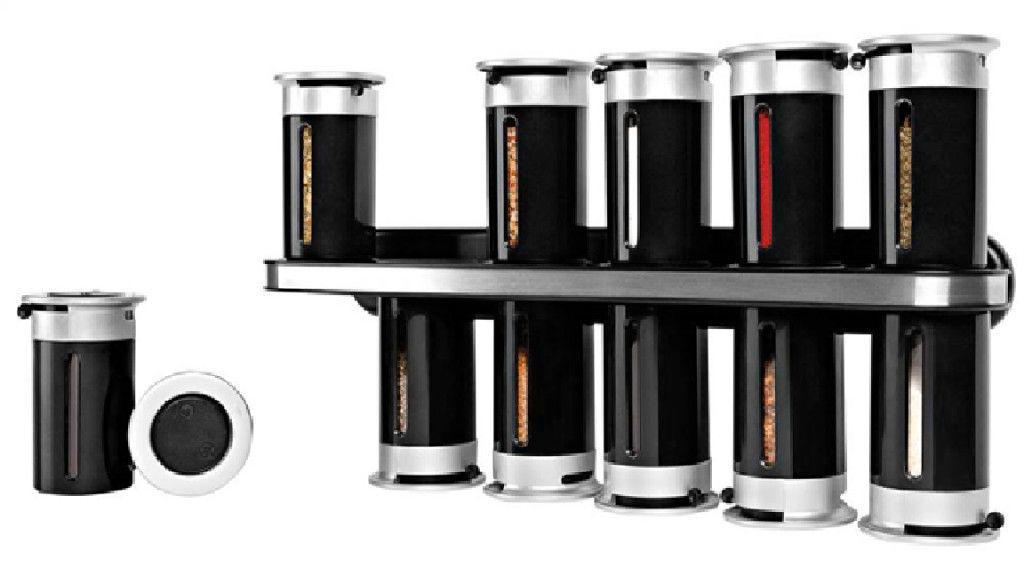 Набор для специй на магнитной стойке (12 предметов) Wall Mounted Magne