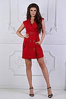 Платье из льна на пуговицах, фото 1
