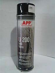 Антигравий APP U200 аерозоль 500ml чорний