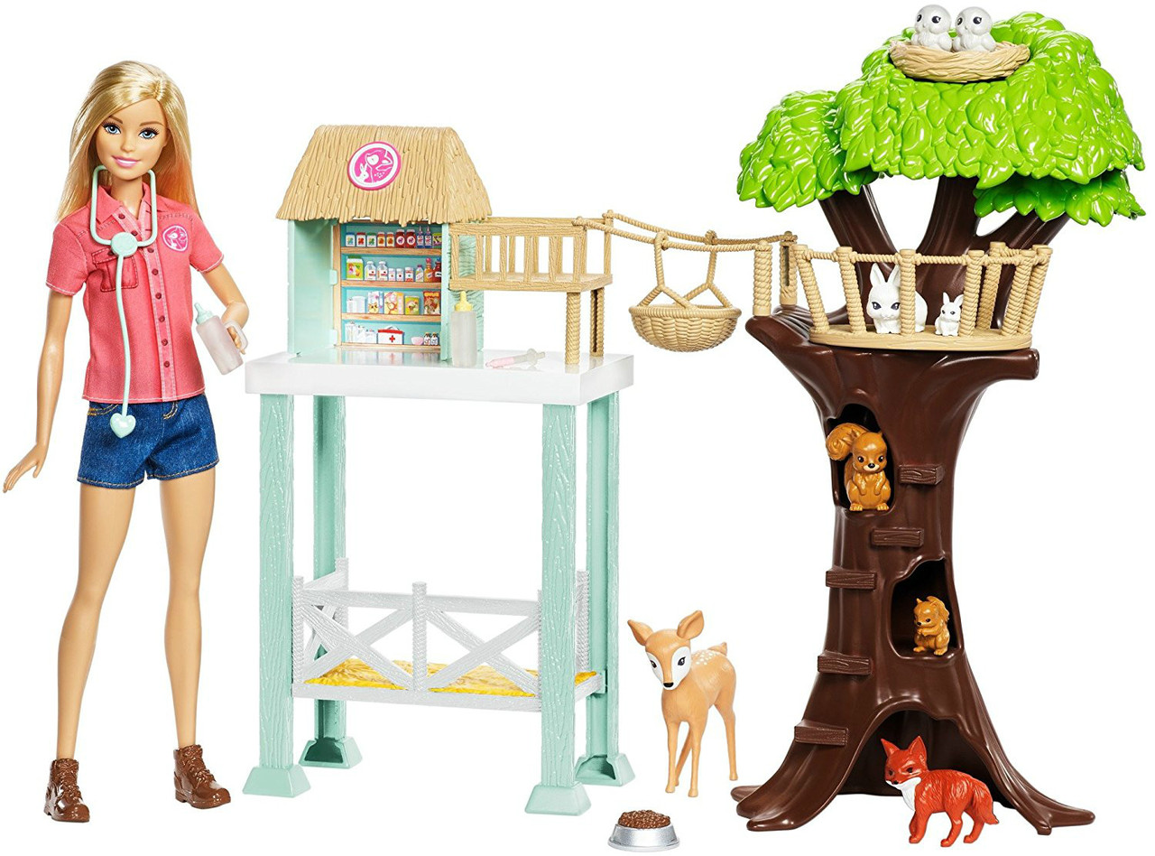 Barbie Барби Центр заботы о животных Animal Rescuer Doll Playset