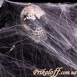 Павутина з павуками, біла, фото 2