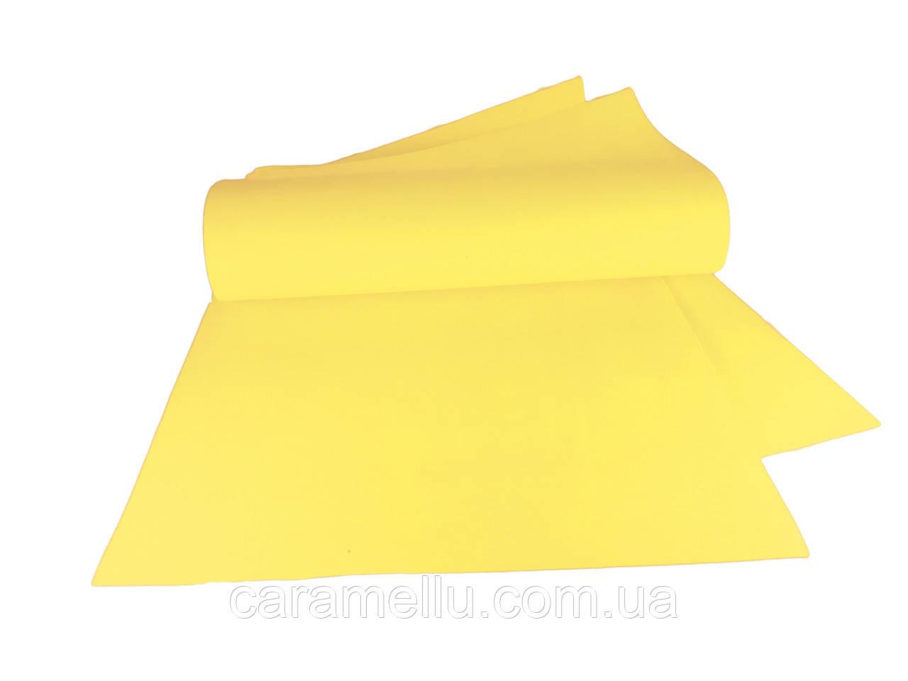 Фоамиран иранский 112, Желтый, 1мм, 70х30см.