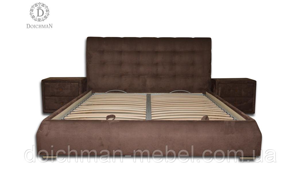 """Уютная кровать с прикроватными тумбочками """"Жаклин"""""""