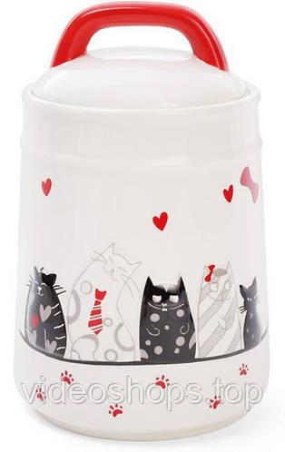 """Банка керамическая """"I Love My Cat"""" 1.3л для сыпучих продуктов"""