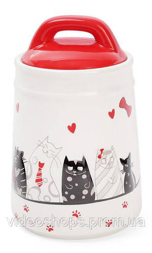 """Банка керамическая """"I Love My Cat"""" 525мл для сыпучих продуктов"""