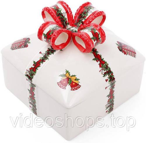 """Банка керамическая """"Подарок"""" для печенья и конфет 1800мл"""
