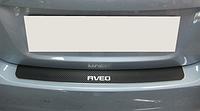 Накладка на бампер Chevrolet Aveo III 4D 2011- карбон