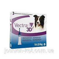 Вектра 3D (Vectra 3D) для собак весом 10–25кг (1пипетка)( Ceva )