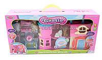 Кукольный домик игровой набор SD181 раскладной, с куколками,мебелью,животными, в коробке  55*13*26 см.