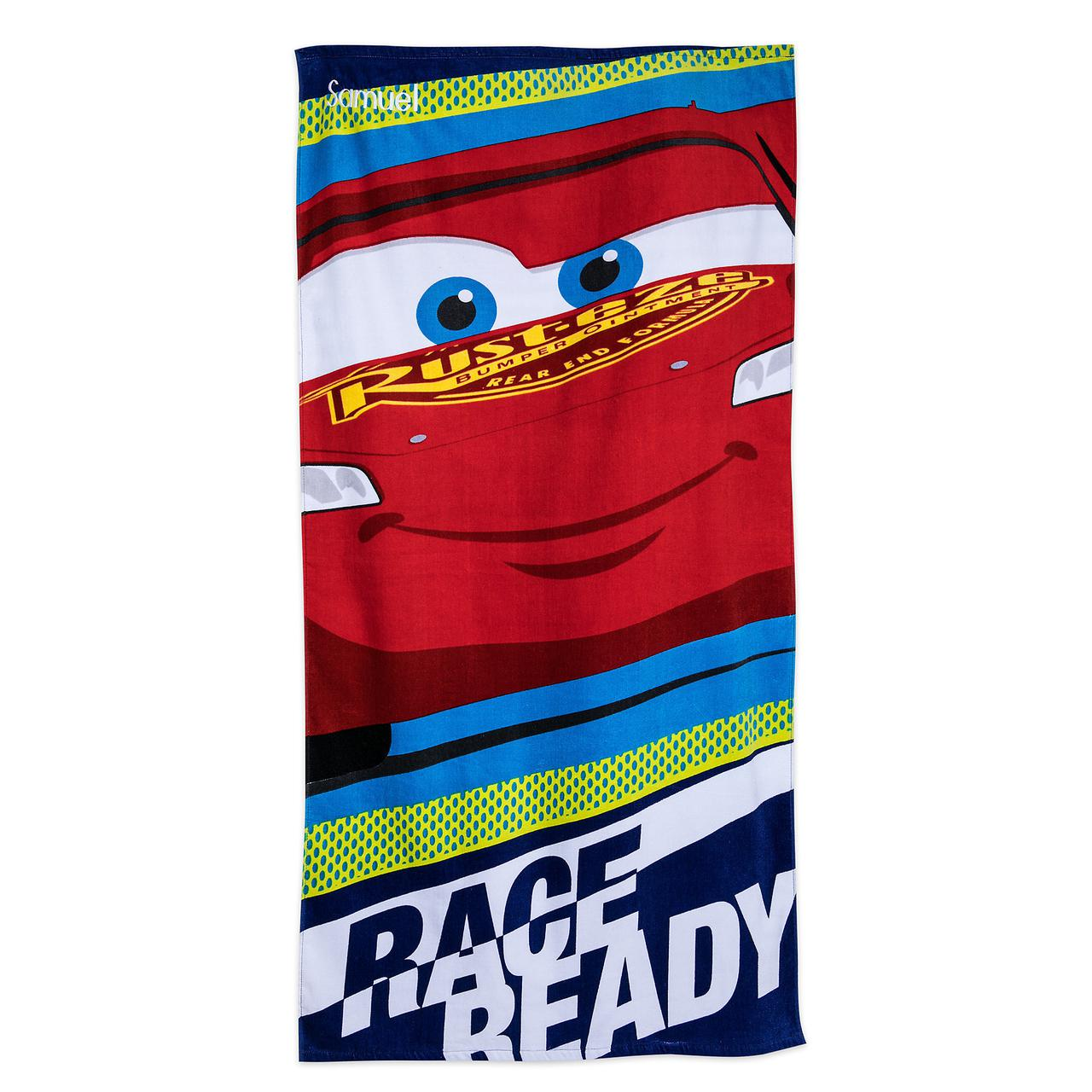 Детское махровое полотенце Дисней Disney Тачки Lightning McQueen Beach Towel for Kids
