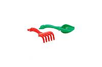 Детский песочный набор: лопатка та грабли