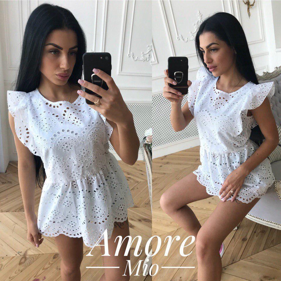 510bd9be14e Купить Женскую красивую блузку на лето из прошвы в разных цветах ...