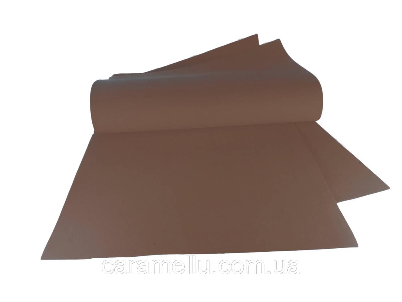 Фоамиран иранский 191, Темно-коричневый, 1мм, 70х30см.