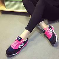 Кроссовки Adidas ZX 850 Gray Pink Розовые женские реплика 40 (25 см)