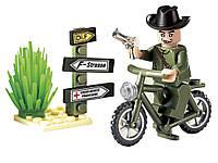 Конструктор Brick 827  Мотоцикл 20 дет., 6+ лет, в собр. коробке  7*4,5*9,5  см.