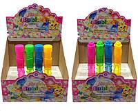 Мыльные пузыри N2003   24 штуки 2 вида,в коробке 16  см.  30 мл