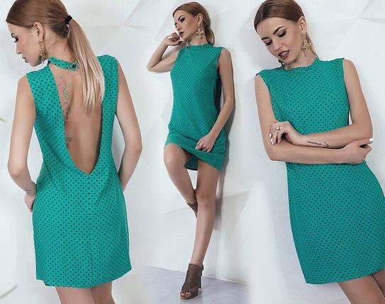 Платье в горошек с открытой спиной, фото 2