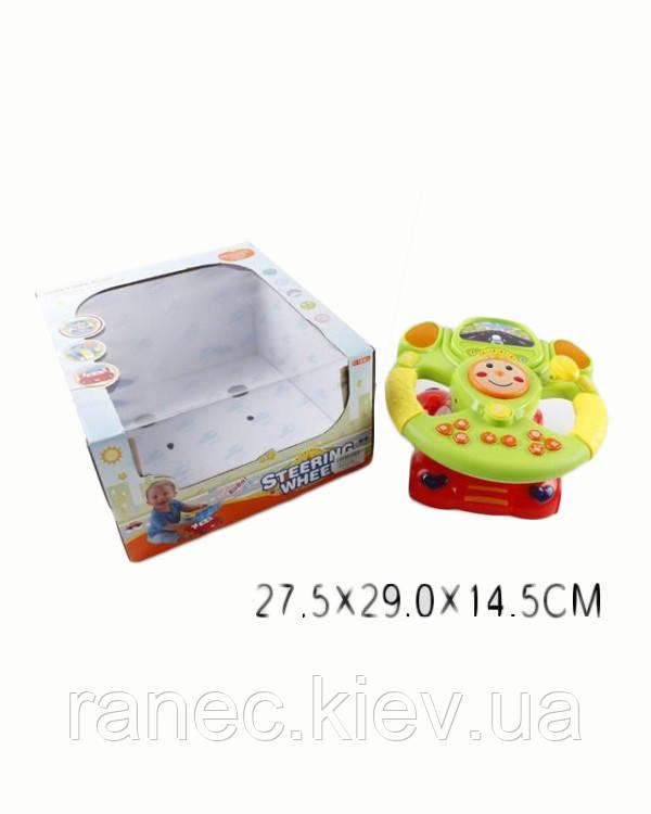 Музыкальная игрушка детская Руль 616-10 (1446522) батар, звук, в коробке 27,5*29*14,5 см.