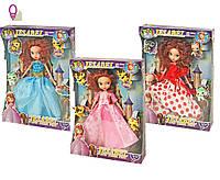 Кукла Sofia 6012 3 вида шарнир,в бал платьях свет корона,зверюшк,в лазер коробке 30*7*39 см.