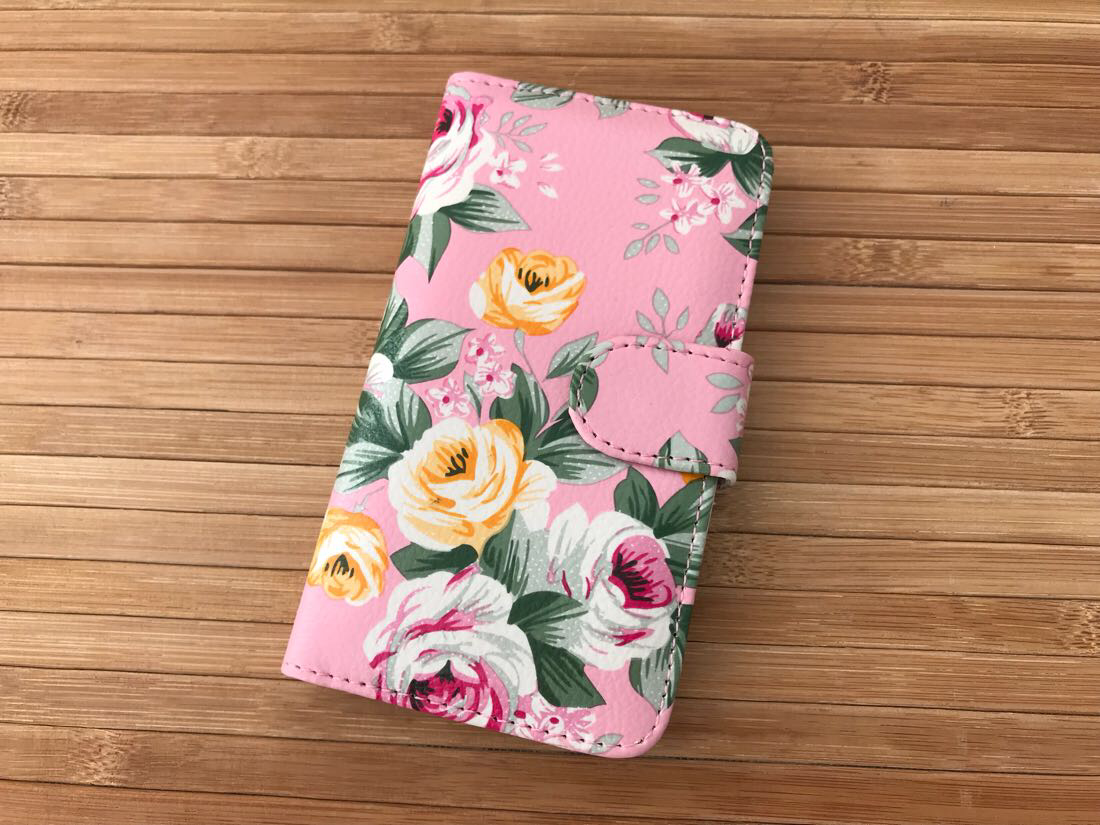 Чехол Book-case Samsung G350 pink flowers
