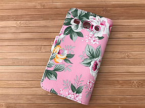 Чехол Book-case Samsung G350 pink flowers, фото 2