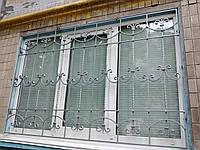Кованая решетка на окно арт.рк2, фото 1