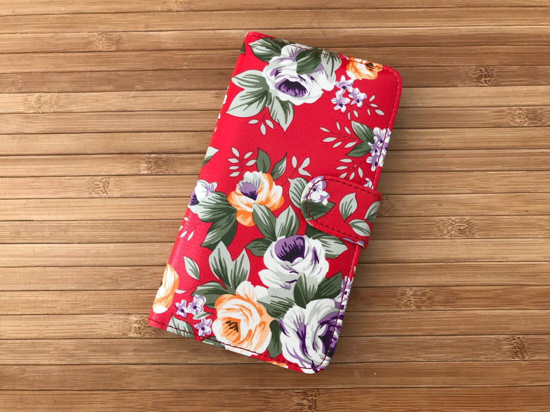 Чехол Book-case Samsung G530 red flowers
