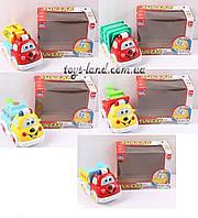 музыкальная игрушка детская Игрушечная машинка QS121/2/3/5/7  батарейки ,в короб. 18*14*10 см.