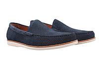 Туфли мужские Lido Marinozzi нубук, цвет синий (лето, платформа, перфорация)