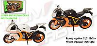 Мотоцикл металл-пластик. инерционная 7750  Автопром в коробке 21,5*12*7 см.