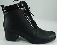 """Ботинки демисезонные из натуральной кожи на каблучке от производителя модель """"БШ - 01В"""""""
