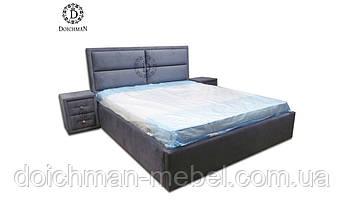 """Мягкая кровать с прикроватными тумбочками """"Сан-Франциско"""""""