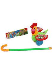 Каталочка игрушка для малышей 7105 Петушок на палочке,в пакете 20*16*13 см.