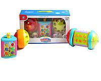 музыкальная игрушка детская  игрушка 855-25A каталка,3 активные панели, свет,  звуки животных, режим игр, в коробке