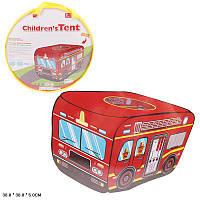 Палатка детская 8828/9  игрушечная машинка автобус  в сумке 38*38*5 см.