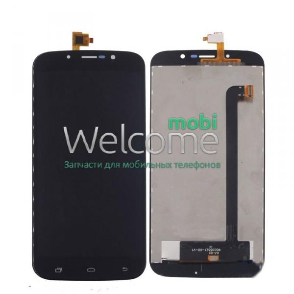 Модуль Umi Rome X black дисплей экран, сенсор тач скрин для телефона с