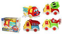музыкальная игрушка детская Игрушечная машинка QS129/132/134/135,  батарейки ,в короб. 18*14*10 см.