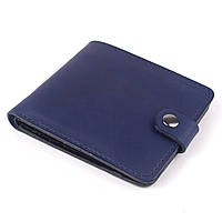 Кожаное портмоне П1-23 (синее)