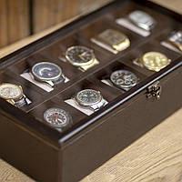 Деревянная шкатулка для часов Hetch DS6 - Dark Wenge на 10 отделений, фото 1