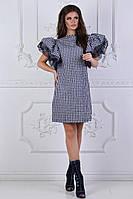 Платье прямого кроя с пышными рукавами, фото 1