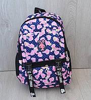 Школьный рюкзак для девочек с накаткой зайка, ассортимент цветов